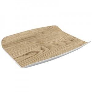 Tura, Gebogene Platte mit Holzeffekt 265mm x 325mm x 40mm