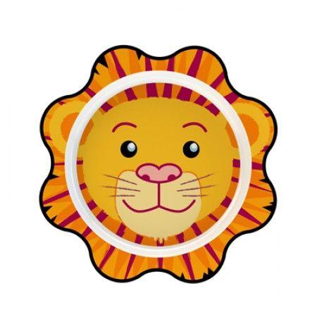 Teller für Kleinkinder mit Löwe als Motiv