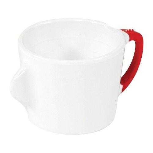 Omni, Teetasse mit Trinkhilfe, 200 ml, Weiß mit rotem Rand