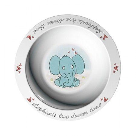 Suppenteller mit Elefant als Motiv
