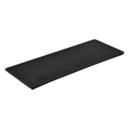 Melamin Platte 346 x 140 x 7.5mm - Schwarz