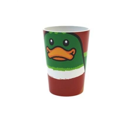 Becher mit Ente als Motiv