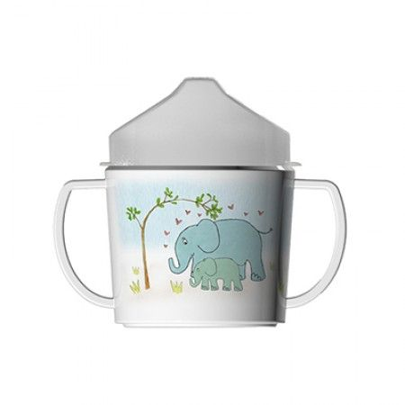 Kinderbecher mit Elefant als Motiv