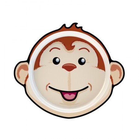 Teller für Kleinkinder mit Affe als Motiv