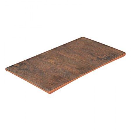 Melamin Platte 246 x 140 x 7,5mm - Rustikales Holz