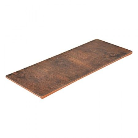 Melamin Platte 346 x 140 x 7.5mm - Rustikales Holz