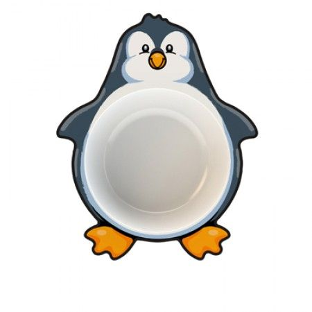 Suppenteller für Kleinkinder mit Pinguin als Motiv