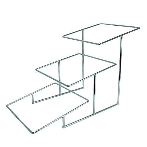 Buffet-Leiter, verchromt, 430 x 330 x 710 mm