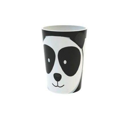 Becher mit Panda als Motiv