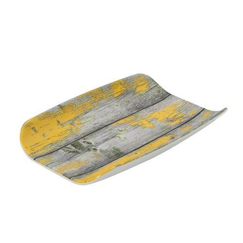 Tura, gebogene Platte mit Holz-Effekt, GN 1/4, 40 mm hoch