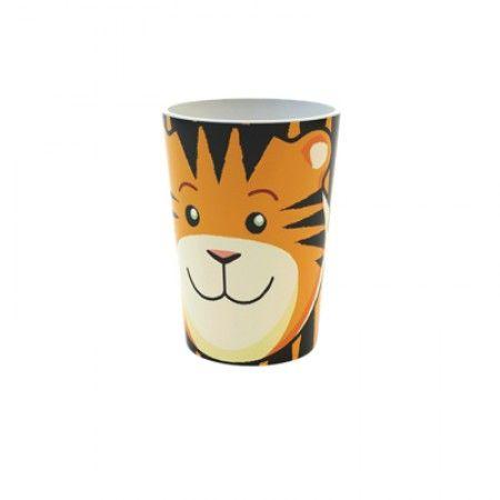 Becher mit Tiger als Motiv