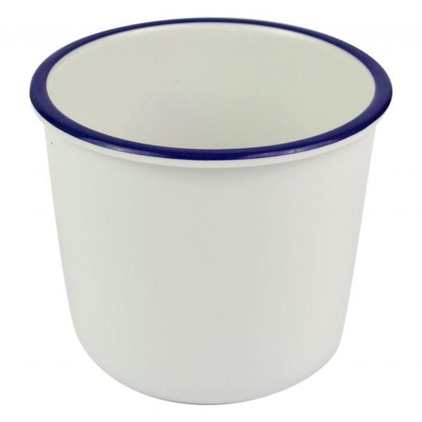 Schale / Dipp-Pott, Emailleoptik, 100x85 mm, 400 ml